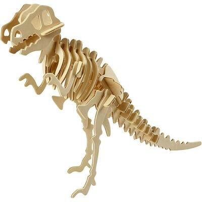 3D Wood Construction Kit - Dinosaur