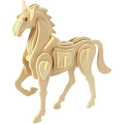 3D Wood Construction Kit - Horse