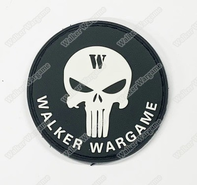 PWG001 PVC Walker Wargame Round Logo Patch With Velcro - Full Colour