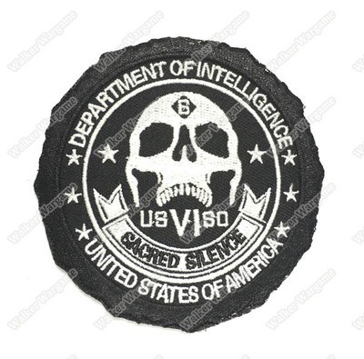 WG051 Sacred Silence Department Of Intelligence With Velcro - Black Color