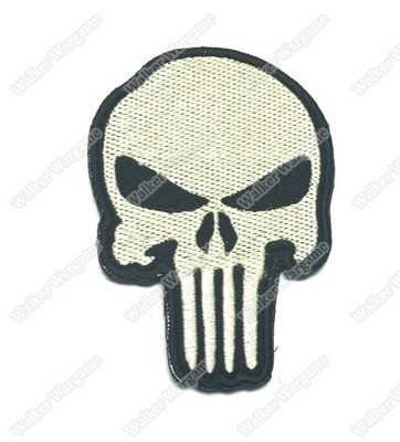 PB514 US Navy Seal Team 6 Punisher Patch With Velcro - Full Colour