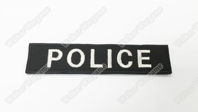 WG044 Police Name Patch With Velcro - SWAT Black