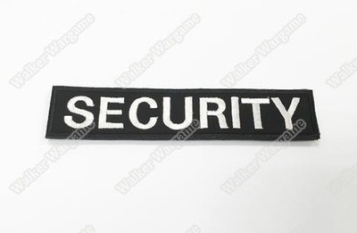 WG045 Security Name Patch With Velcro - SWAT Black
