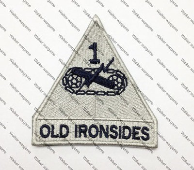 B1096 US Army 1st Armored Division Patch With Velcro - ACU Colour