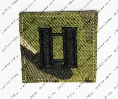 B172 US Army O-3 Captain (Capt) Rank Patch With Velcro - Multicam Colour