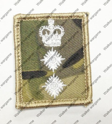 B2259 UK British Army Colonel Rank Patch With Velcro - Multicam Colour