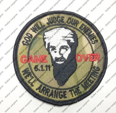B1583 Bin Laden Game Over - Seal Team Patch With Velcro - Multicam Colour