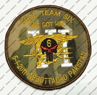 B1586 US Navy Seal Team 6 2011-5-1 Ben Laden Mission Patch With Velcro - Multicam Colour