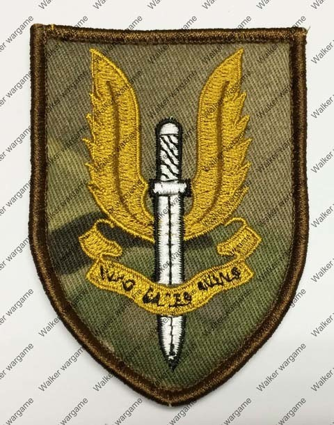 B1589 UK SAS Special Force Patch With Velcro - Multicam Colour