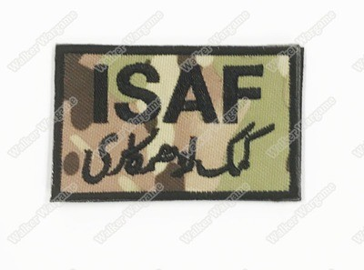 WG075 ISAF - International Security Assistance Force Patch With Velcro - Multicam Colour