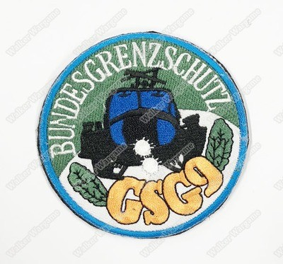 WG108 German GSG9 Grenzschutzgruppe 9 Elite Police Tactical Unit Patch With Velcro - Full Colour