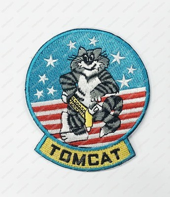 WG120 US Navy F14 Tom Cat Jet Patch With Velcro - Full Colour