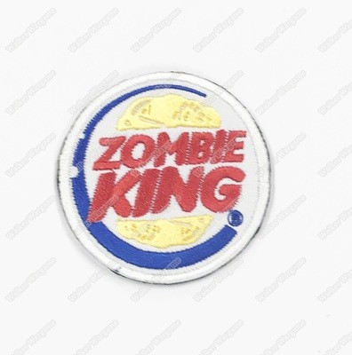 WG086 Zombie King US Army Chapter Morale Patch With Velcro - Full Color