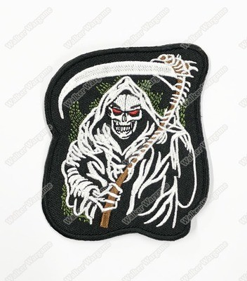 WG101 Scythe Of Death Chapter Morale Patch With Velcro - Full Colour