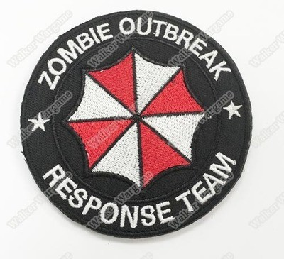 WG046 Zombie Outbreak Response Team Patch With Velcro - Full Color