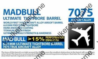 Mad Bull 6.01mm Ultimate Tight Bore 6.01mm AEG Barrel