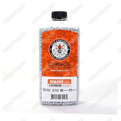 G&G 0.30G P.S.B.P. Perfect Spherical Seamless 6mm Airsoft BBs - 5600rds Bottle