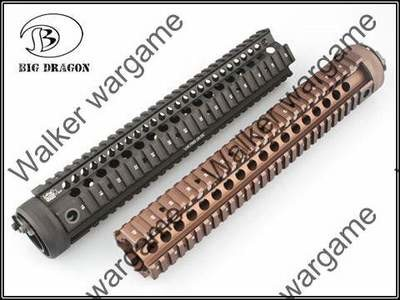 12inch M16 RIS Picatinny Rail Handguard - Black & Tan