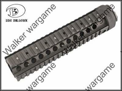 actical 9 inch M4A1 RAS Metal RIS Free Float Picatinny Rail Handguard - Black & Tan