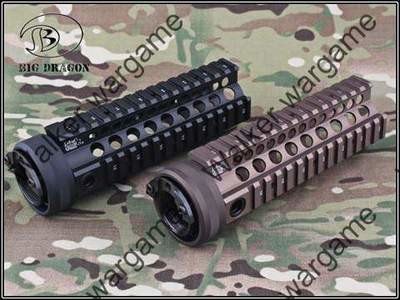 Tactical 7 inch M4 CQB RAS Metal RIS Free Float Picatinny Rail Handguard - Black & Tan