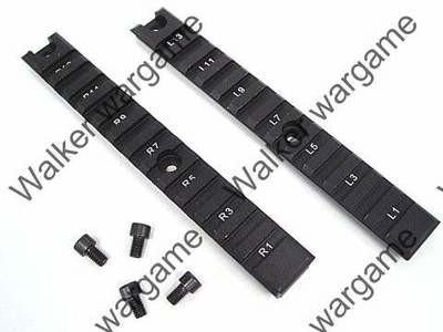 HK G36K Picatinny Rail 20mm RIS Rail Long 2 pcs