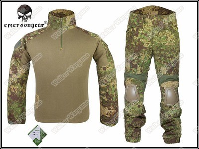 Combat Set Shirt & Pants Build in Elbow & Knee Pads - Special Force GreenZone Camo GZ
