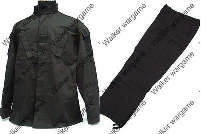 BDU Battle Dress Uniform Full Set -  Police SWAT Black