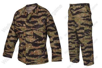 BDU Battle Dress Uniform Full Set -  US Army Vietnam War Tiger Stripe