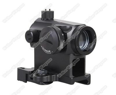 Emerson T1 Micro Reflex Red & Green Dot Sight with QD Riser - Black