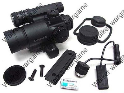 AM4 Type Tactical Red/Green Dot Sight Scope w/Green Laser & Killflash Sight