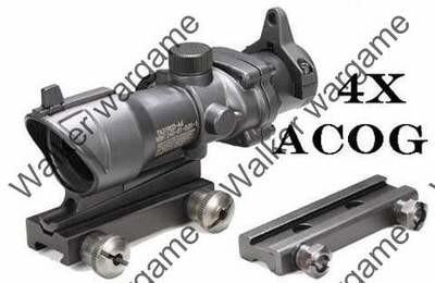 ACOG 4X Enhanced Zoom Cross Sight Scope - Black