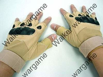 O Style Half Finger Assault Gloves - Tan