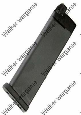 WE 25rd Pistol Magazine for Glock 17 19 18c 23 26 32 GBB Black