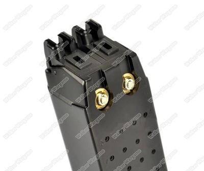 WE Tech Double Barrel Glock 17 18 Green Gas Blow Back Pistol Mag