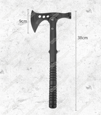 Rubber Training Tactical Tomahawk AXE With Holster - Black