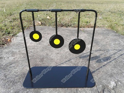 Full Metal 3 Spinning Target Shooting System With Base - Use For Airsoft Paintball Pellet