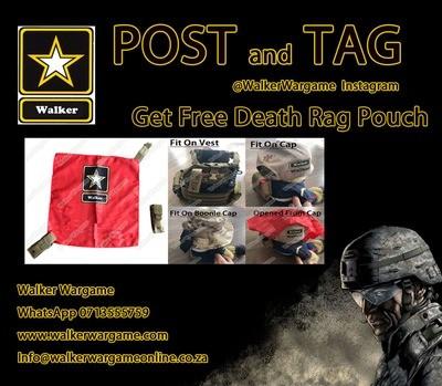 WWG Airsoft Molle Kill Rag Death Rag Pouch - Black