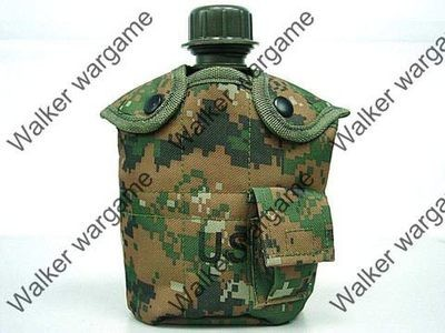 1Qt Canteen Water Bottle w/Pouch & Cup - DW