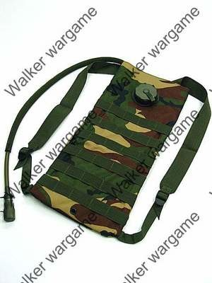 3L Hydration Water Molle Backpack - Woodland