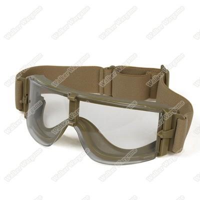 Tactical Wind Dust X800 Goggle Glasses Clear Lens Set - Tan