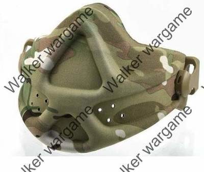 Emerson Tactical Soft Shell Half Face Protect Mask - Multi Camo