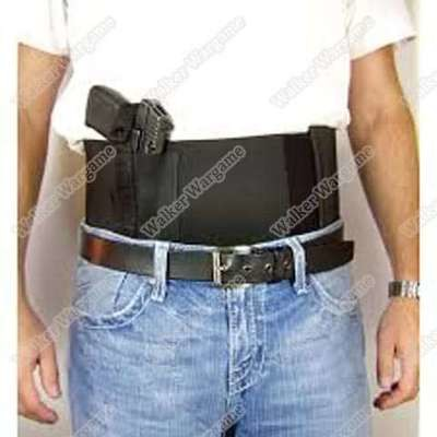 Tactical Waist Wrap Belly Band Holster With 2 Mag Pockets - Conceal and Carry and Ease