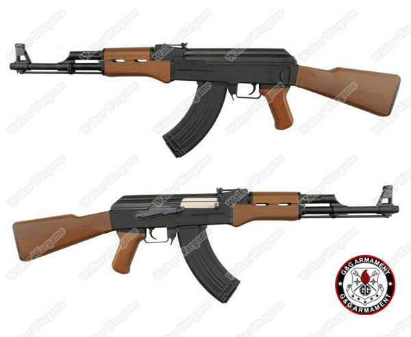 G&G Top Tech RK 47 AK47 Blowback Electric Airsoft Rifle - Wood Incl Battery