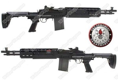 G&G M14 EBR Full Metal Sniper Rifle Full RIS Rail AEG - Short Type
