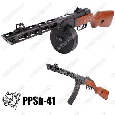 Snow Wolf PPSH - 41 Sub Machine Gun Blow Back AEG AirSoft Rifle With Dual Magazine