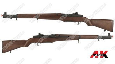 A&K WW2 US Army Full Size M1 Garand AEG Airsoft Rifle - Real Wood Furniture