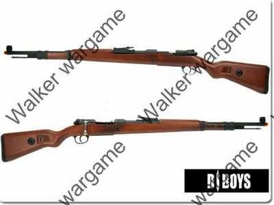 WW2 D-BOYS Kar 98K Fake Wood Full Metal Shell - Ejecting Sniper Rifle