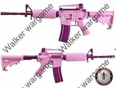 GG Special Femme Fatale16 Pink M4A1 Carbine Airsoft Electric Gun - Limit Edition
