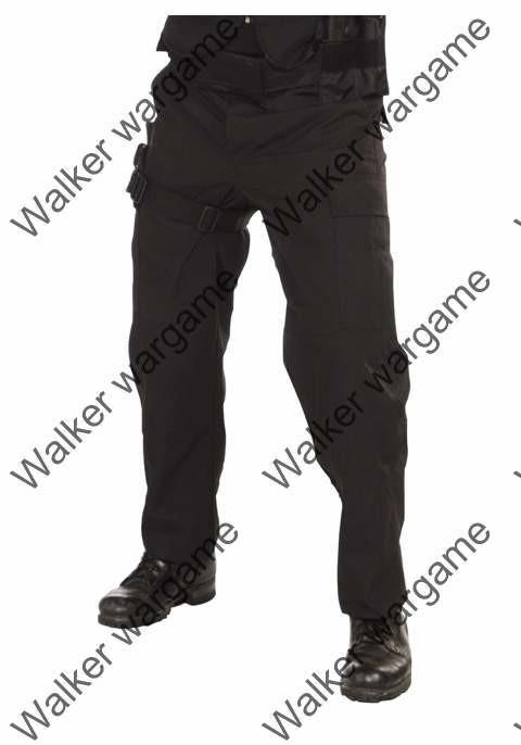 Police SWAT Black Tactical Cargo - Pants