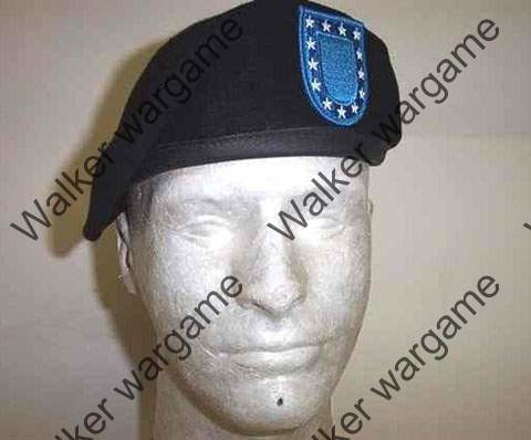 US Army Beret Shaved Shaped Leather Band - Black